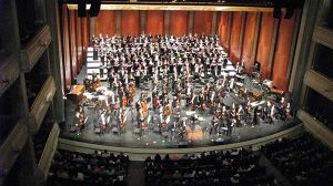 Image of Bass Hall Choir Seating Risers Rentals