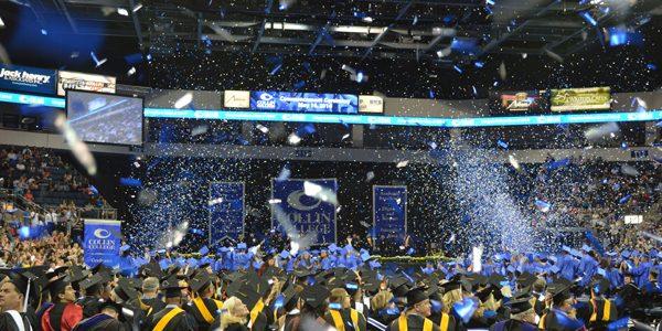 Confetti Blower at a Graduation Ceremony