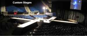 Custom Staging to Fit the Event Venue