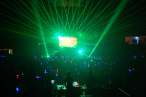 A College Glow Party Combines Audio, Lighting and Special Effects