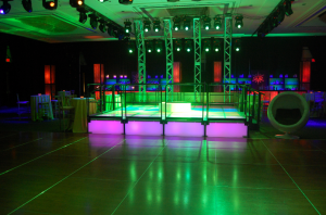 Example of LED Lighted Dance Floor