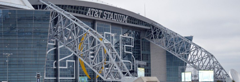 Image of AT&T Stadium for College Football National Championship
