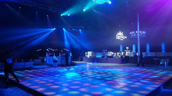 LED Dance Floor at Holiday Party Image