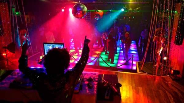 Image of DJ and Disco Dance Floor