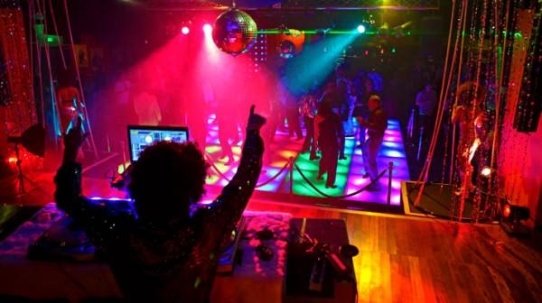 Image of DJ and Disco Dance Floor