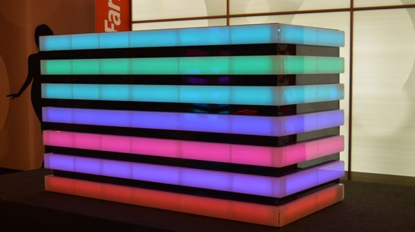 Custom LED Lighted DMX Controllable DJ Booth Image