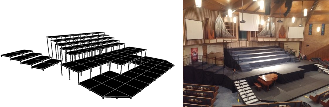 Riser Design Drawing and Actual Installation