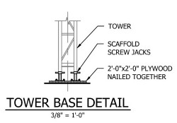 Tower Base Drawings Image