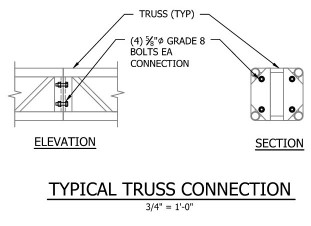 Truss Connection Drawings Image