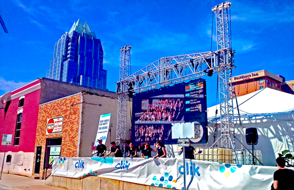 Live Event Visual Amplification at Outdoor Austin Event