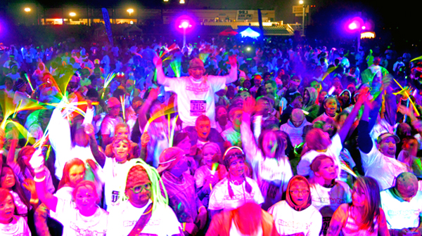 blacklight College Glow Party Audience Image