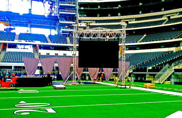 Live Event Visual Amplification at Cowboys Stadium