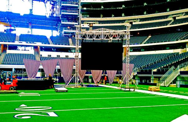 Live Event Visual Amplification at Cowboys Stadium