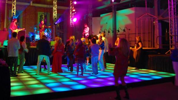 Disco Concert Using an LED Dance Floor