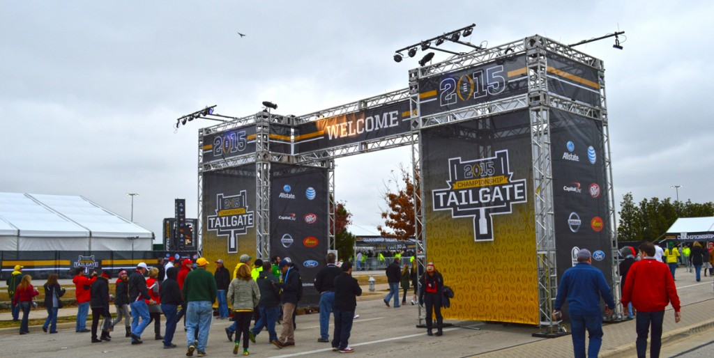 Entry Gantry at College Football Championship Tailgate Event