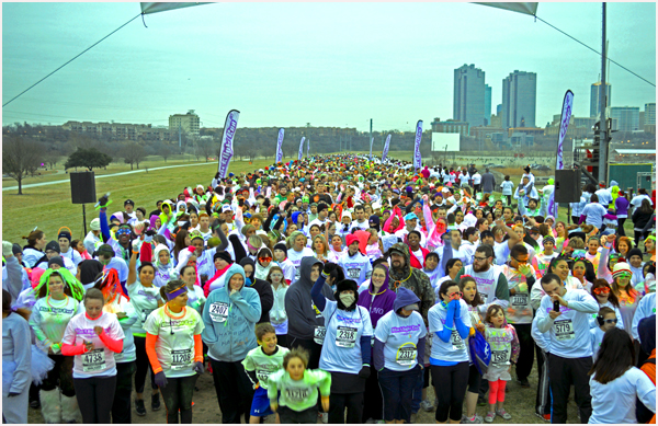 Image of Starting Line at 5K Run Event