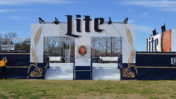 Image of Miller Lite concert lounge