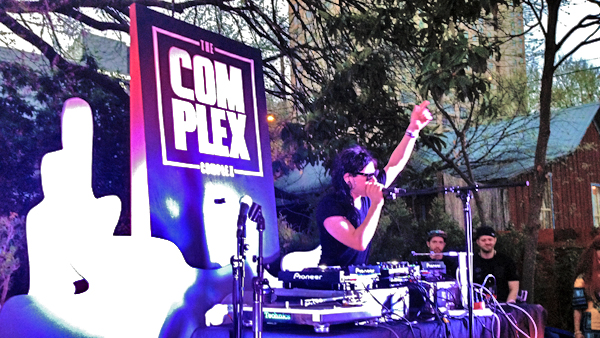 Image of DJ Skrillex Performing at The Complex Complex at SXSW
